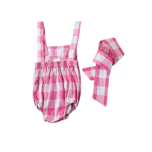 Fashion Newborn Infant Baby Girls Jumpsuit Strap Backless Plaid Covered Button Headband Toddler Romper Outfits Black/PinkJumpsuits &amp; Rompers<br>Fashion Newborn Infant Baby Girls Jumpsuit Strap Backless Plaid Covered Button Headband Toddler Romper Outfits Black/Pink<br><br>Blade Length: 12.0cm