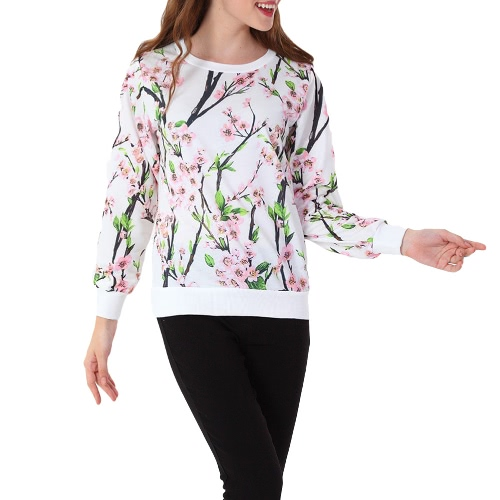 Fashion 3D Print Long Sleeve O Neck Casual Sweatshirt for Women