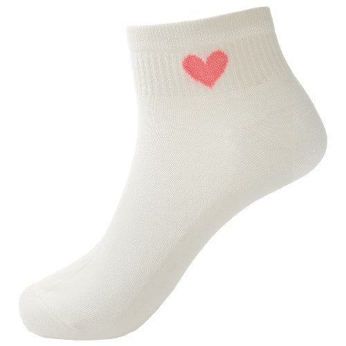 New Fashion Women Socks Solid Color Heart Low Cut Breathable Stretchy Casual Ankle Socks GA0269-4
