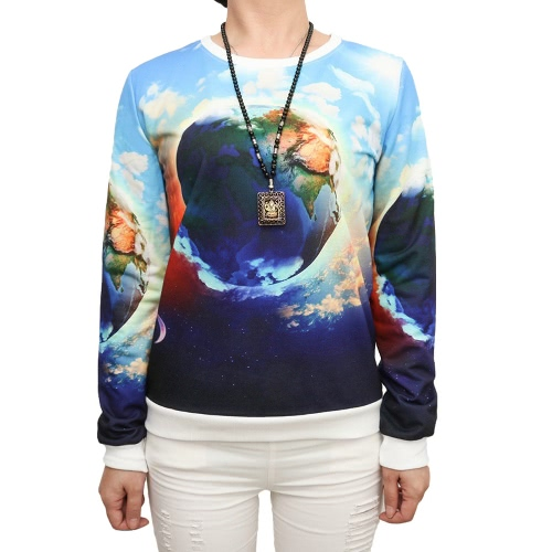 New Casual Women Pullover Special Print Round Neck Long Sleeve Tee Tops Sport SweatshirtBlazers &amp; Coats<br>New Casual Women Pullover Special Print Round Neck Long Sleeve Tee Tops Sport Sweatshirt<br><br>Blade Length: 27.0cm