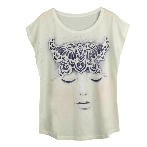 New Women T-Shirt Special Print O-Neck Short Sleeves Pullover Loose Casual Tee Fashion TopShirts &amp; Blouses<br>New Women T-Shirt Special Print O-Neck Short Sleeves Pullover Loose Casual Tee Fashion Top<br><br>Blade Length: 20.0cm