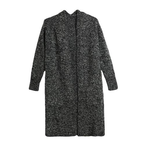 New Autumn Winter Women Cardigan Knit Sweater Long Sleeve Casual Loose Knitwear Grey/Black/Camel