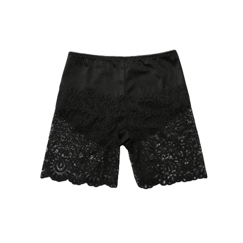 New Sexy Women Safety Pants Lace Solid Color Briefs Underwear Panties Ladies Shorts White/Beige/Black