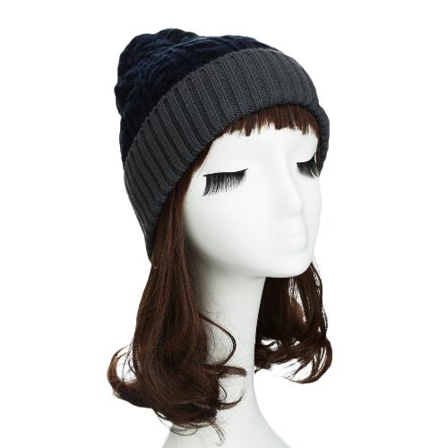 New Fashion Unisex Women Men Knitted Beanie Hat Warm Hip-Hop Cap Turtleneck Cap