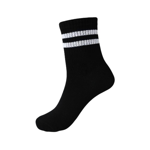 New Fashion Men Socks Striped Contrast Color Breathable Stretchy Casual Sport Football Long Socks