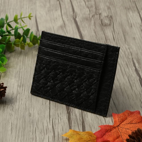 New Fashion Men Clip Wallet Genuine Leather Woven ID Credit Card Holder Business Money Clip Black/BrownNew Fashion Men Clip Wallet Genuine Leather Woven ID Credit Card Holder Business Money Clip Black/Brown<br><br>Blade Length: 15.0cm