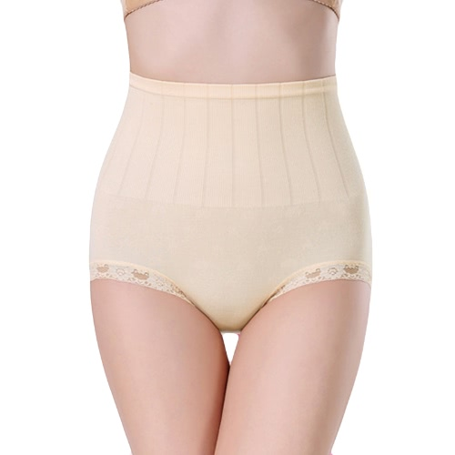 Fashion Women Shapewear Panties Lace Trim Belly