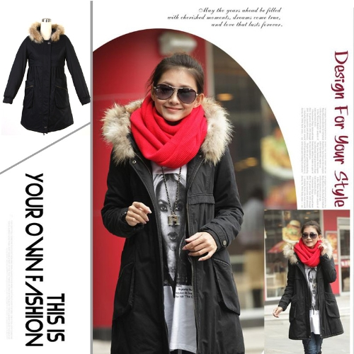 Buy Women's Warm Winter Coat Quilted Hooded Parka Overcoat Long Jacket Outwear