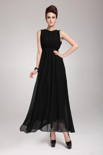 Buy 2013 New Summer Bohemian Beach Women's Dress Chiffon Split Halter Backless Long Maxi Party Evening Black