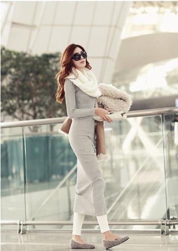 Korean Fashion Women Maxi Dress Mid-Calf Long Sleeve Pure Color Knitted Long DressDresses<br>Korean Fashion Women Maxi Dress Mid-Calf Long Sleeve Pure Color Knitted Long Dress<br><br>Blade Length: 25.0cm