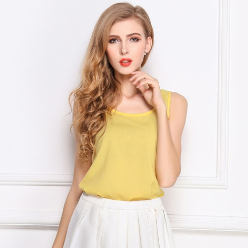 New Fashion Women Tank Top Chiffon Candy Color Crew Neck Sleeveless Casual Vest Blouse TopsTops &amp; Vests<br>New Fashion Women Tank Top Chiffon Candy Color Crew Neck Sleeveless Casual Vest Blouse Tops<br><br>Blade Length: 30.0cm