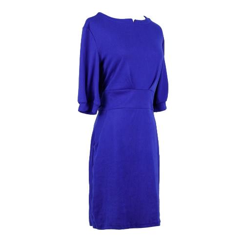 New Fashion Women Dress Pockets Belt Half Sleeves Solid Casual Mini One-piece GreyRoyalblueDresses<br>New Fashion Women Dress Pockets Belt Half Sleeves Solid Casual Mini One-piece GreyRoyalblue<br><br>Blade Length: 30.0cm