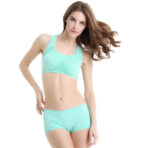 New Sexy Women Sports Bra Mesh Seamless Push Up Padded Stretch Running Bra Athletic Vest Tank Top G1270GR-XL