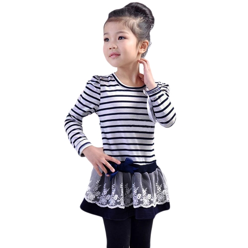 Fashion Kids Girl Dress Striped Ruffle Lace Bowknot Mesh Floral Round Neck Long Sleeve Princess Dresses Dark Blue/CoffeeFashion Kids Girl Dress Striped Ruffle Lace Bowknot Mesh Floral Round Neck Long Sleeve Princess Dresses Dark Blue/Coffee<br><br>Blade Length: 20.0cm