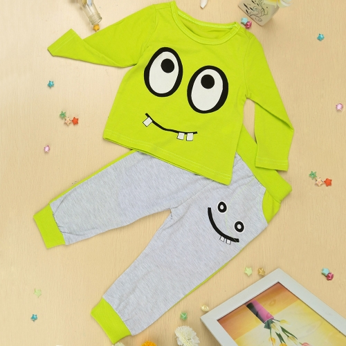 New Fashion Boys Girls Unisex Clothing Sets T-shirt Pants Big Eyes Small Tooth Smile Print Cute SuitNew Fashion Boys Girls Unisex Clothing Sets T-shirt Pants Big Eyes Small Tooth Smile Print Cute Suit<br><br>Blade Length: 30.0cm