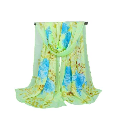 Fashion Women Chiffon Scarf Contrast Floral Print Long Shawl PashminaScarves &amp; Shawls<br>Fashion Women Chiffon Scarf Contrast Floral Print Long Shawl Pashmina<br><br>Blade Length: 15.0cm