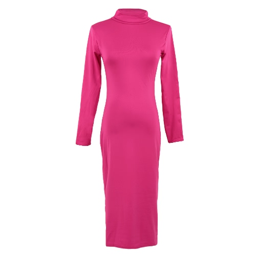 Sexy Turtleneck Long Sleeve Solid Warm Bodycon Midi Dress for WomenDresses<br>Sexy Turtleneck Long Sleeve Solid Warm Bodycon Midi Dress for Women<br><br>Blade Length: 30.0cm
