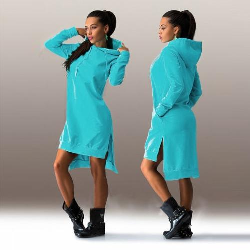 Trendy Sweatshirt Hoodie Long Sleeve Pockets Shift Dress for WomenDresses<br>Trendy Sweatshirt Hoodie Long Sleeve Pockets Shift Dress for Women<br><br>Blade Length: 25.0cm