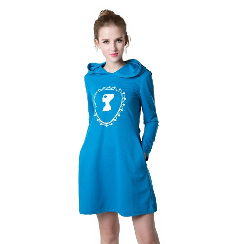 Casual Sport Women Sweatshirt Dress Print Long Sleeve Pockets Jumper Skater Shift DressDresses<br>Casual Sport Women Sweatshirt Dress Print Long Sleeve Pockets Jumper Skater Shift Dress<br><br>Blade Length: 25.0cm