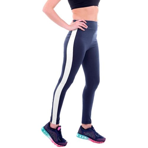 New Fashion Women Sport Leggings Stripe High Waist Yoga Fitness Gym Running Stretch Tights Long Pants TrousersPants &amp; Shorts<br>New Fashion Women Sport Leggings Stripe High Waist Yoga Fitness Gym Running Stretch Tights Long Pants Trousers<br><br>Blade Length: 20.0cm