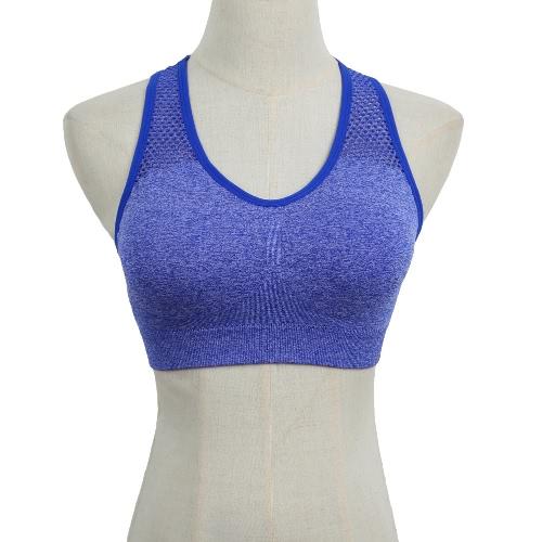 New Fashion Women Sports Bra Push Up Wireless Padding Seamless Fitness Stretch Breathable Yogo Gym Underwear Vest G2640BL-L