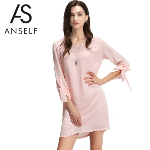 New Fashion Women Dress O-Neck Rolled Sleeve Back Zipper Lining Loose Solid Mini Dress PinkDresses<br>New Fashion Women Dress O-Neck Rolled Sleeve Back Zipper Lining Loose Solid Mini Dress Pink<br><br>Blade Length: 20.0cm