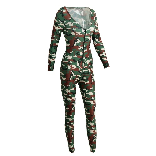 New Sexy Women Jumpsuit Camouflage Print V Neck Long Sleeve Bodycon Playsuit Rompers Bodysuit Army GreenJumpsuits &amp; Rompers<br>New Sexy Women Jumpsuit Camouflage Print V Neck Long Sleeve Bodycon Playsuit Rompers Bodysuit Army Green<br><br>Blade Length: 30.0cm