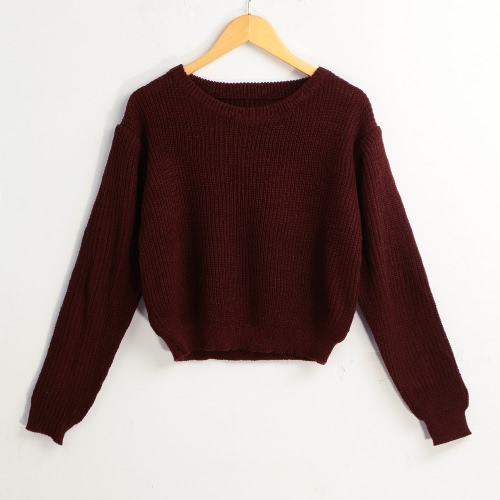 New Winter Women Knitted Sweater Solid O-Neck Long Sleeves Elegant Pullover Tops Knitwear BurgundyKnitwear<br>New Winter Women Knitted Sweater Solid O-Neck Long Sleeves Elegant Pullover Tops Knitwear Burgundy<br><br>Blade Length: 30.0cm