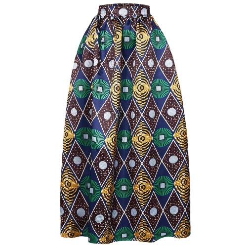 New Women Skirt African Print Ankara Dashiki Bohemian High Waist Pleated A-Line Maxi Flare SkirtBlazers &amp; Coats<br>New Women Skirt African Print Ankara Dashiki Bohemian High Waist Pleated A-Line Maxi Flare Skirt<br><br>Blade Length: 25.0cm