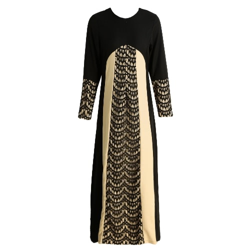 New Fashion Women Muslim Maxi Dress Contrast Color Pitches Long Sleeve Abaya Kaftan Islamic Indonesia Robe Long DressDresses<br>New Fashion Women Muslim Maxi Dress Contrast Color Pitches Long Sleeve Abaya Kaftan Islamic Indonesia Robe Long Dress<br><br>Blade Length: 27.0cm