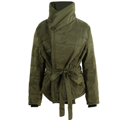 Fashion Short Parka Long Sleeve Winter Warm Slim Women's Padded Jacket
