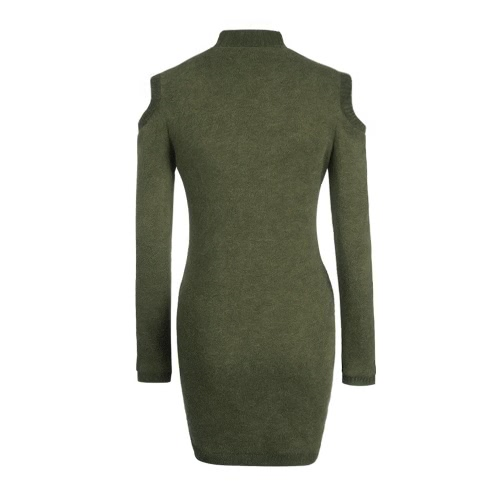 Sexy Women Winter Dress Off Shoulder Long Sleeve Turtleneck Sweater Jumper Knit Bodycon DressDresses<br>Sexy Women Winter Dress Off Shoulder Long Sleeve Turtleneck Sweater Jumper Knit Bodycon Dress<br><br>Blade Length: 20.0cm