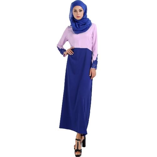 Fashion Women Spliced Muslim Dress Long Sleeve Embroidered Flower Islamic Abaya Dubai Caftan Dress Maxi RobeDresses<br>Fashion Women Spliced Muslim Dress Long Sleeve Embroidered Flower Islamic Abaya Dubai Caftan Dress Maxi Robe<br><br>Blade Length: 25.0cm