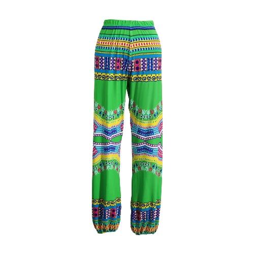New Women Bohemia Leggings Printed High Waist Wide Leg Lantern Pants Loose Sports Gym Fitness Dancing Trousers