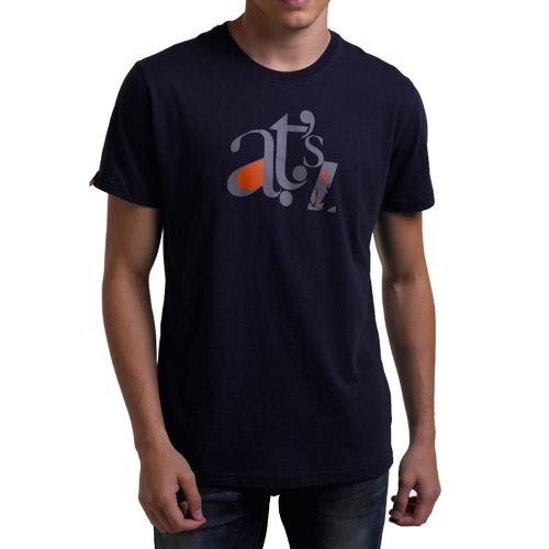 Buy Fashion Summer Letter Print O-Neck Short Sleeve Cotton Men's T-shirt