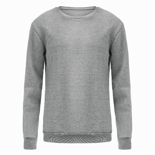 New Men Sweater Pullover Letter Print O-Neck Long Sleeve Casual Warm Top Grey G4131GY-XL