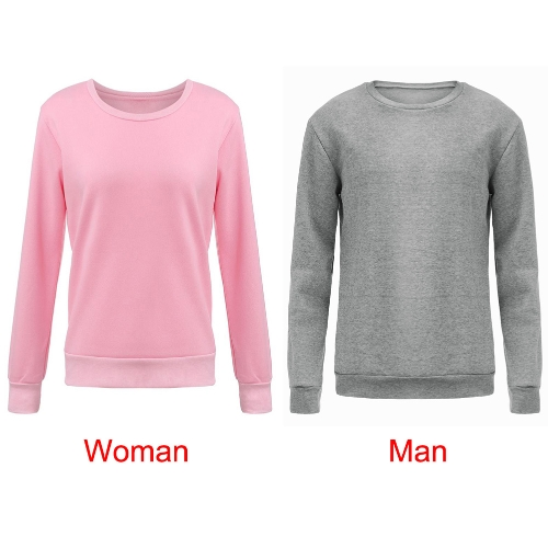 New Men Sweater Pullover Letter Print O-Neck Long Sleeve Casual Warm Top Grey G4131GY-L