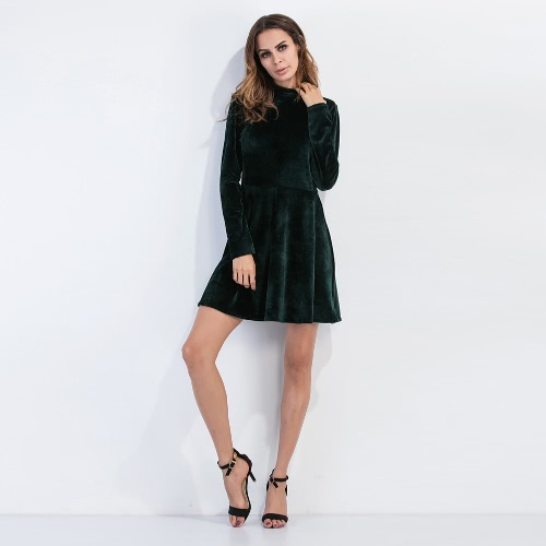 New Sexy Women Velvet Mini Dress Choker Backless Long Sleeve Solid Warm Slim A-Line Dress Party Clubwear GreenDresses<br>New Sexy Women Velvet Mini Dress Choker Backless Long Sleeve Solid Warm Slim A-Line Dress Party Clubwear Green<br><br>Blade Length: 26.0cm