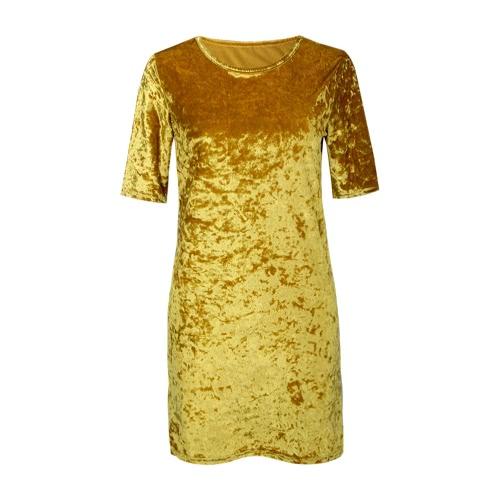New Fashion Women Crushed Velvet Mini Dress Casual Shiny Long Top T-Shirt Shift Party DressDresses<br>New Fashion Women Crushed Velvet Mini Dress Casual Shiny Long Top T-Shirt Shift Party Dress<br><br>Blade Length: 25.0cm