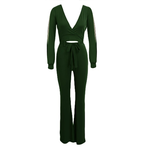 Sexy Women Bodycon Jumpsuit Cut Out Solid Deep V-neck Long Sleeves Casual Club Playsuit Rompers Black/Burgundy/Army GreenJumpsuits &amp; Rompers<br>Sexy Women Bodycon Jumpsuit Cut Out Solid Deep V-neck Long Sleeves Casual Club Playsuit Rompers Black/Burgundy/Army Green<br><br>Blade Length: 30.0cm