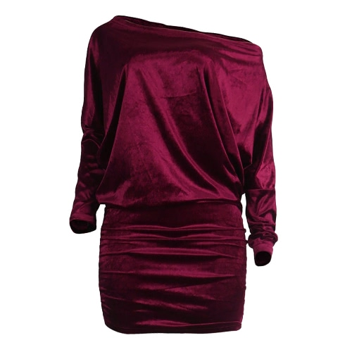 Sexy Women Velvet Dress Off Shoulder Long Sleeve Bodycon Nightclub Party Mini Pencil DressShirts &amp; Blouses<br>Sexy Women Velvet Dress Off Shoulder Long Sleeve Bodycon Nightclub Party Mini Pencil Dress<br><br>Blade Length: 20.0cm