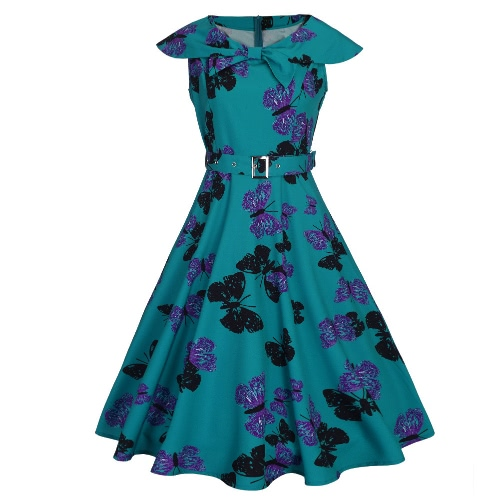 Fashion Women Retro Dress Vintage Butterfly Print Rockabilly Party Swing Dress Purple/Light Purple/GreenDresses<br>Fashion Women Retro Dress Vintage Butterfly Print Rockabilly Party Swing Dress Purple/Light Purple/Green<br><br>Blade Length: 23.0cm
