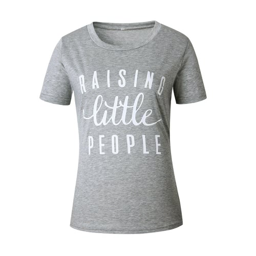 New Fashion Summer Women T-Shirt Letter Print O-Neck Short Sleeves Sport Outdoor Casual TopShirts &amp; Blouses<br>New Fashion Summer Women T-Shirt Letter Print O-Neck Short Sleeves Sport Outdoor Casual Top<br><br>Blade Length: 30.0cm
