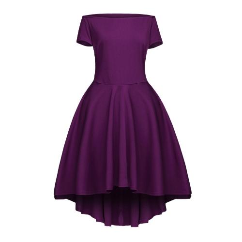 New Fashion Women Off Shoulder Dress Slash Neck Irregular hem Party A-line DressDresses<br>New Fashion Women Off Shoulder Dress Slash Neck Irregular hem Party A-line Dress<br><br>Blade Length: 25.0cm