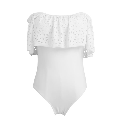 New Sexy Women One-piece Swimsuit Off Shoulder Ruffled Overlay Solid Padded Beach Swimwear Bathing Suit White/BlackSwimwear<br>New Sexy Women One-piece Swimsuit Off Shoulder Ruffled Overlay Solid Padded Beach Swimwear Bathing Suit White/Black<br><br>Blade Length: 25.0cm