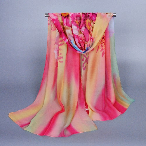 Anself Fashion Floral Print Gradient Color Long Shawl Pashmina Beach Scarf for WomenScarves &amp; Shawls<br>Anself Fashion Floral Print Gradient Color Long Shawl Pashmina Beach Scarf for Women<br><br>Blade Length: 25.0cm