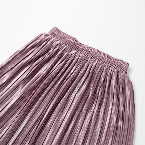 New Brief Europe Pleated Skirt Solid Color High Waist Elasticated Waistband Lined Midi SkirtBlazers &amp; Coats<br>New Brief Europe Pleated Skirt Solid Color High Waist Elasticated Waistband Lined Midi Skirt<br><br>Blade Length: 20.0cm