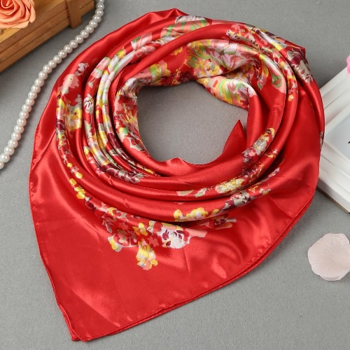 New Fashion Women Square Scarf Flower Pattern Print Thin shawl Satin KerchiefScarves &amp; Shawls<br>New Fashion Women Square Scarf Flower Pattern Print Thin shawl Satin Kerchief<br><br>Blade Length: 16.0cm