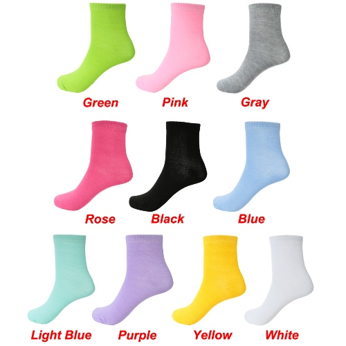 New Fashion Men Women Unisex Socks Solid Breathable Stretchy Casual Sport Long Socks