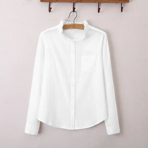 New Fashion Women Shirt Turn-down Neck Stand Collar Long Sleeve Button Formal Casual Blouse TopsShirts &amp; Blouses<br>New Fashion Women Shirt Turn-down Neck Stand Collar Long Sleeve Button Formal Casual Blouse Tops<br><br>Blade Length: 15.0cm